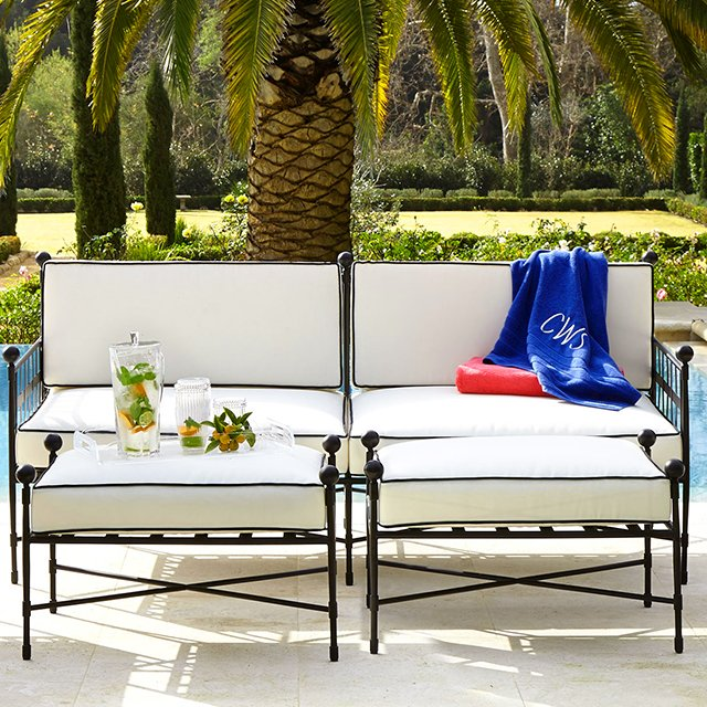 Neoclassical Outdoor Sofa. Price: $2,700.