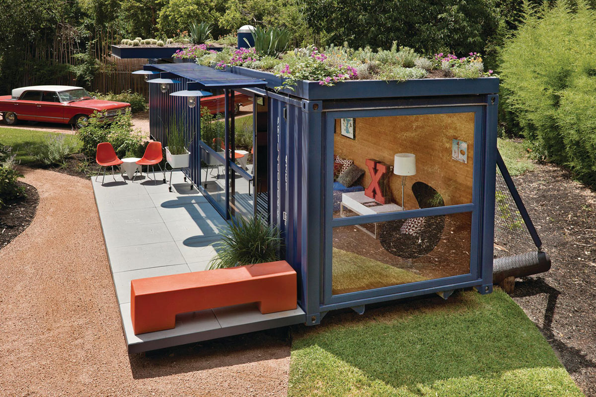 cargo containers transformed into 3 beautiful houses