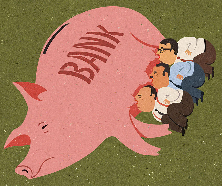 Satirical drawings about our society by John Holcroft (4)