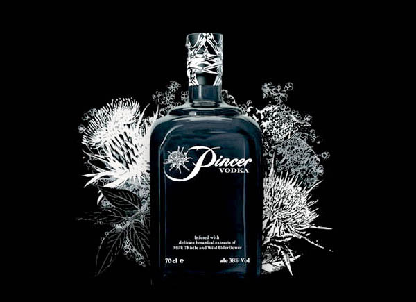 Pincer-Vodka alcholic volume by content