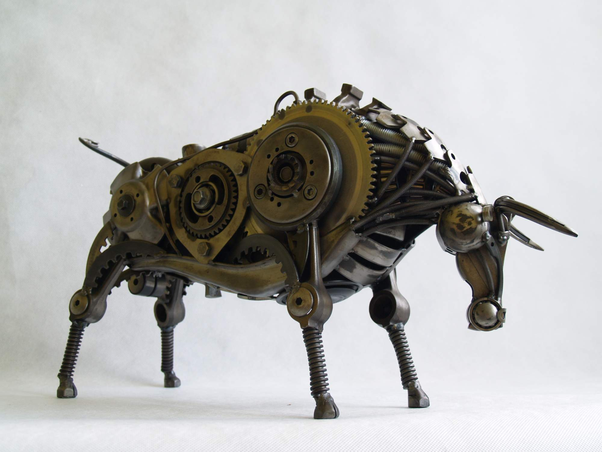 THE BULL sculpture made of scrap metal 2