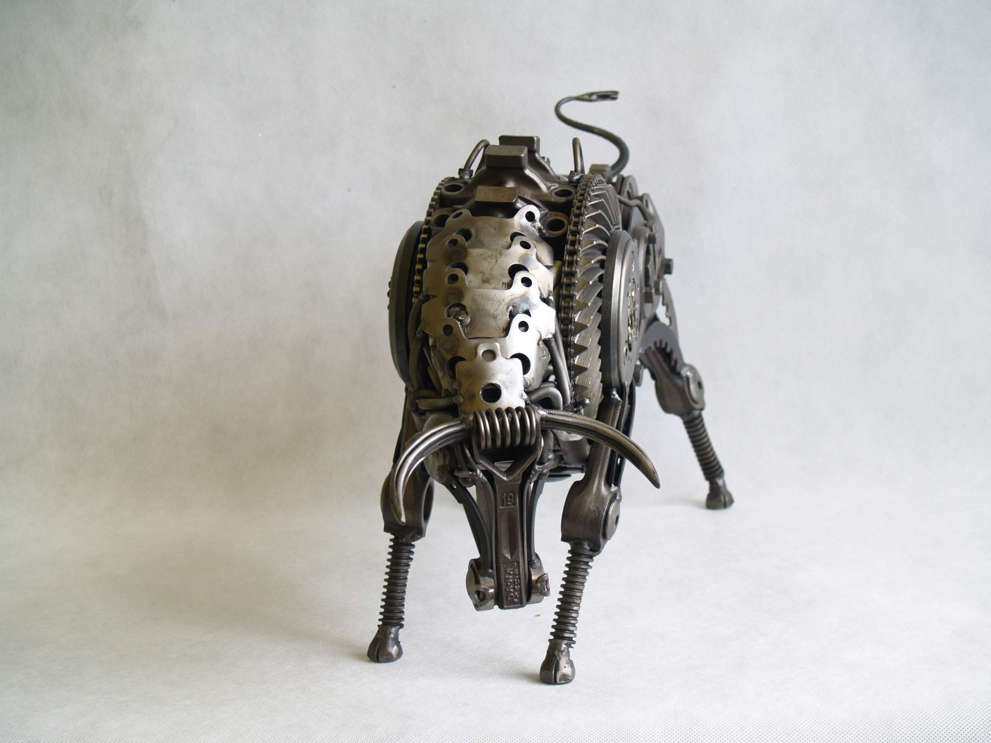 THE BULL sculpture made of scrap metal 3