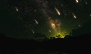 Meteor shower in China