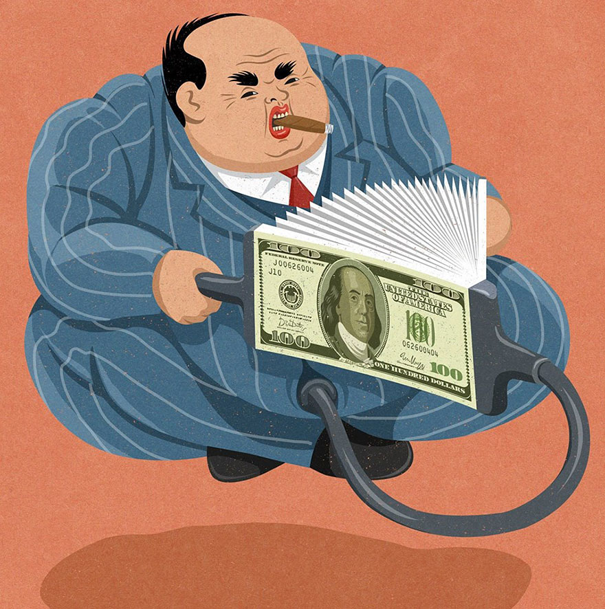 Satirical drawings about our society by John Holcroft (10)