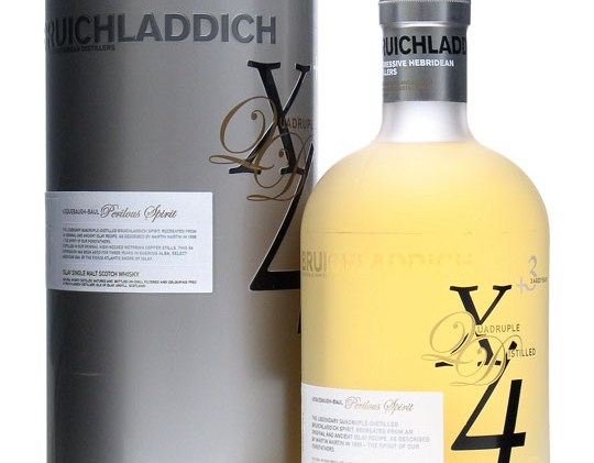 Bruichladdich X4 alcoholic level by volume