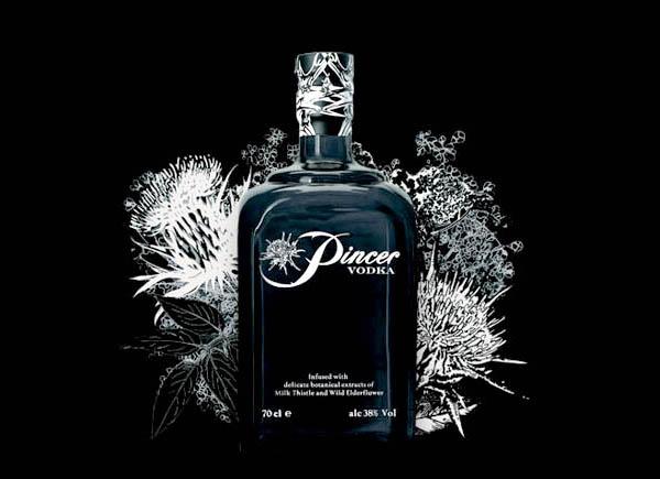 Pincer-Vodka alcholic volume by content