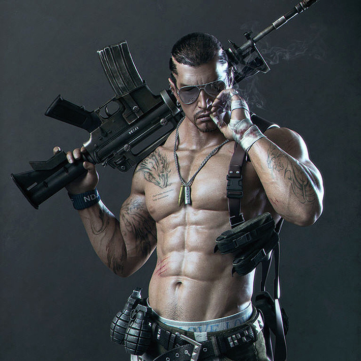 Unbelievable realistic male 3D models artworks