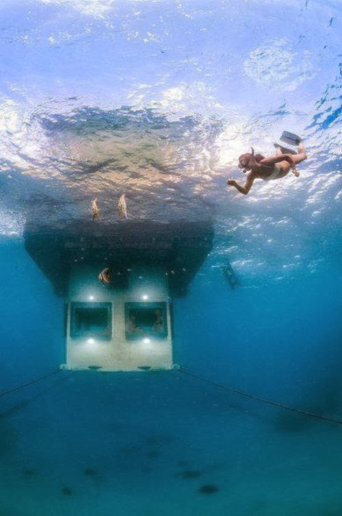 The underwater hotel room in Tanzania, Africa
